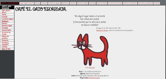 Portada proyecto Café El gato escarlata