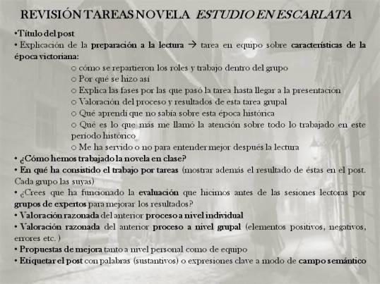 EVALUACIÓN ESTUDIO EN ESCARLATA