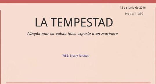 PORTADA LA TEMPESTAD