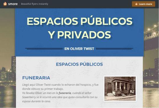 Espacios públicos y privados