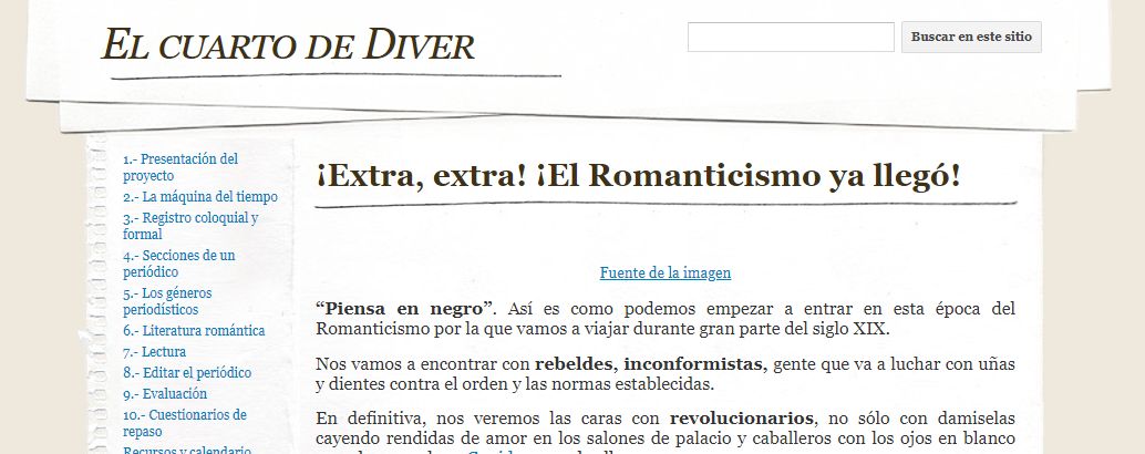 Sites El Romanticismo ya llegó
